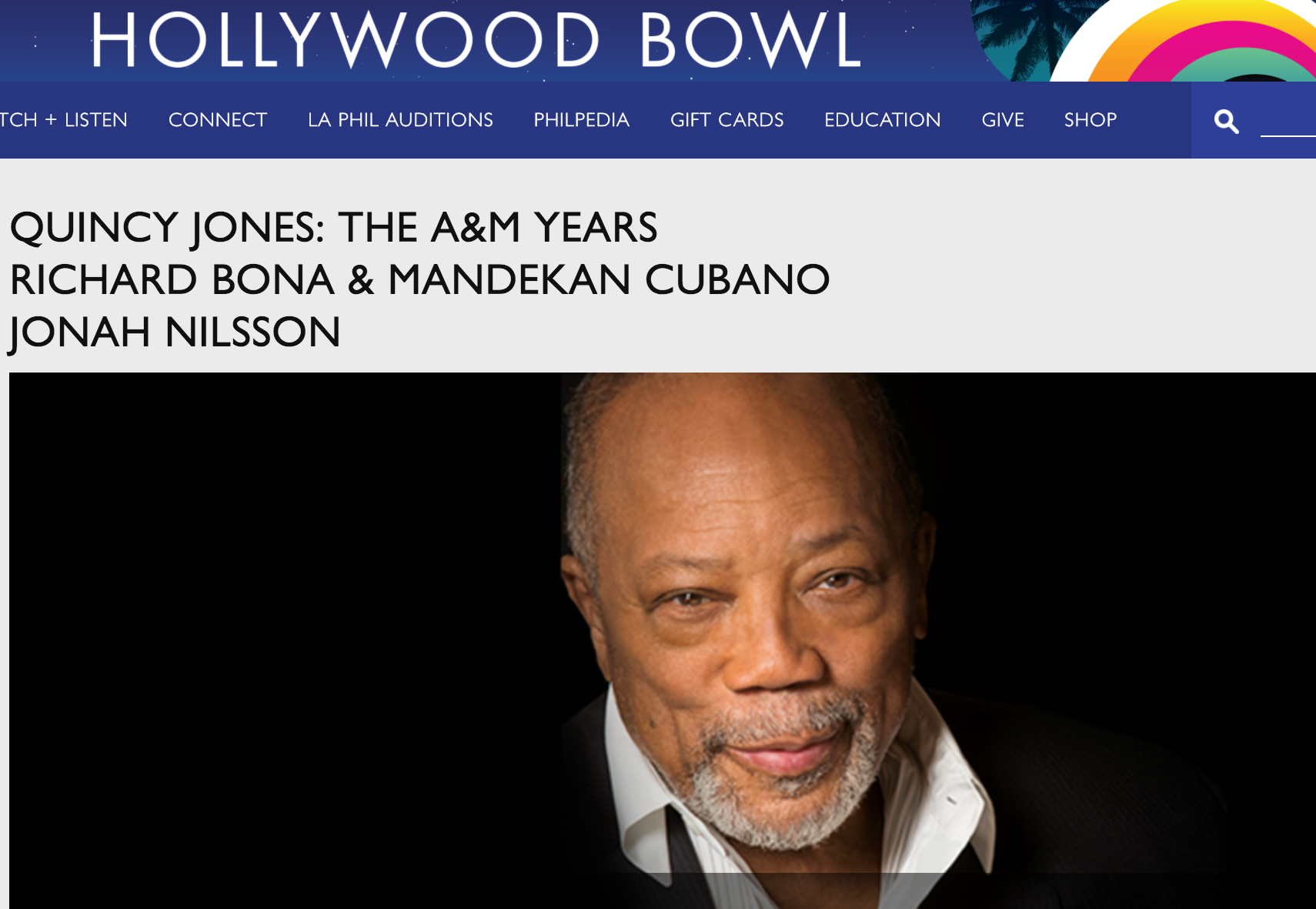 Quincy Jones at the Hollywood Bowl